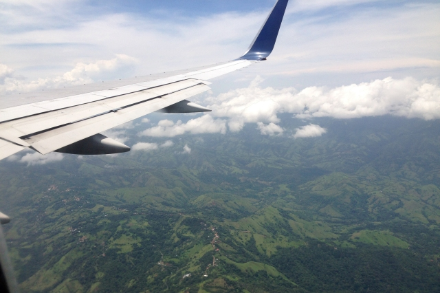 Beautiful mountain scenery as the Panthers approached Costa Rica.